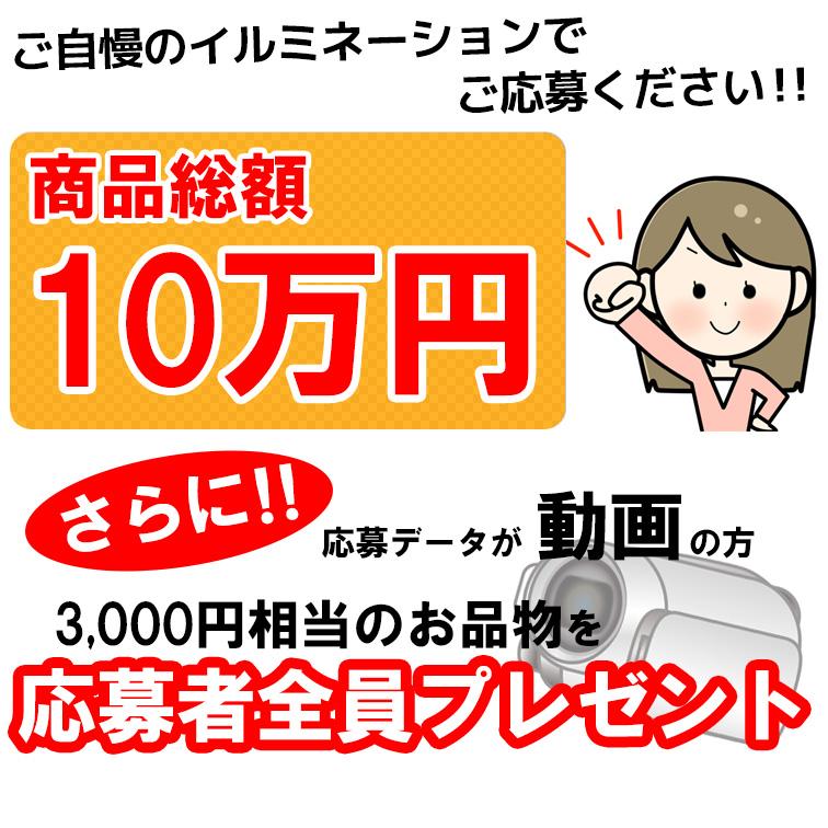 商品総額10万円 ご自慢のイルミネーションでご応募ください