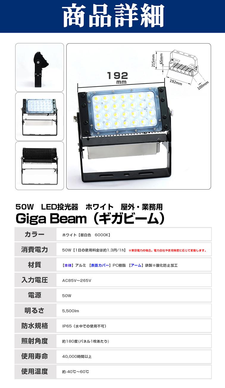 60021 50W 昼白色 GigaBeam投光器 商品詳細