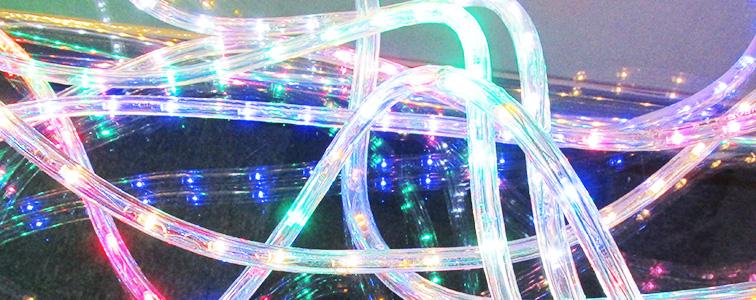 ロープ・チューブイルミネーションLEDライトの施工例